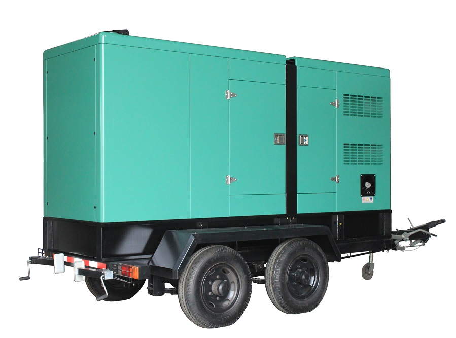 200kw 250kva diesel generator set with movable trailer